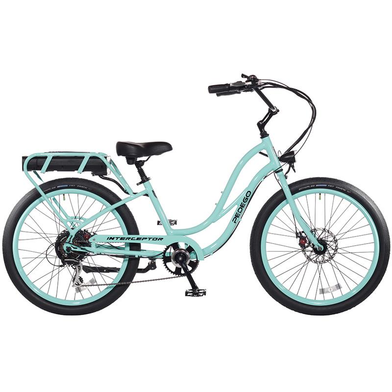 2019 Pedego Step Thru Interceptor III Electric Bicycle - Sea Foam