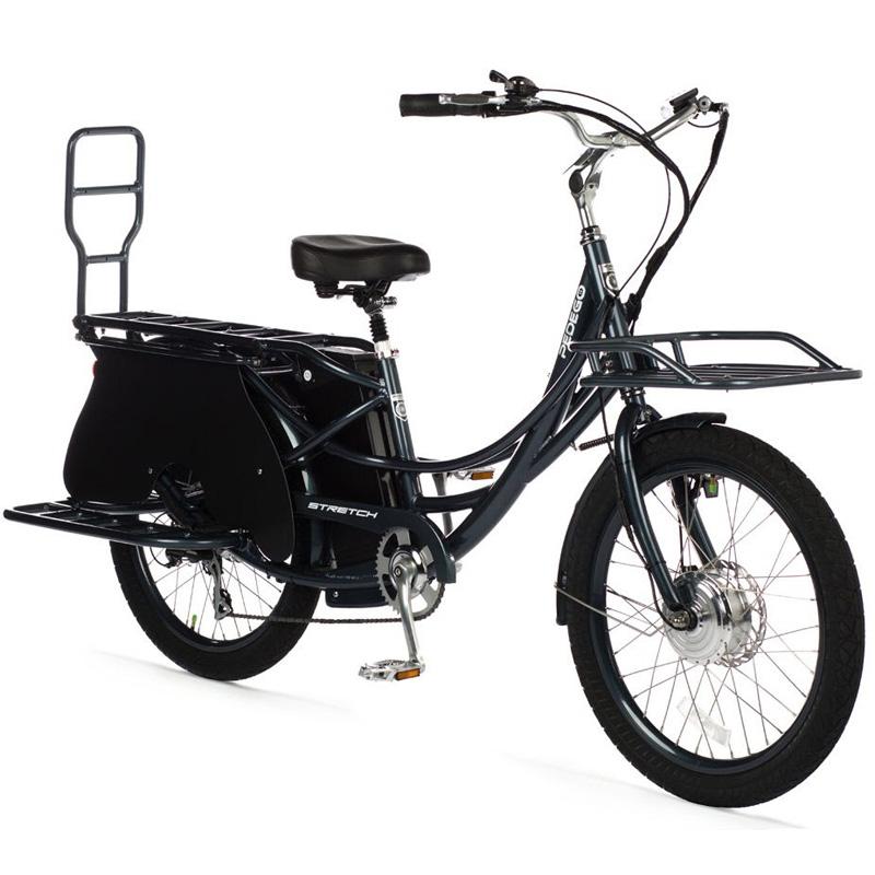 2019 Pedego Stretch Dual Drive Electric Cargo Bike - Mineral Blue