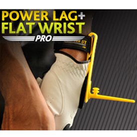 Power Lag and Flat Wrist Combo Golf Trainer