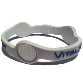 Energy and Vitality Band - White/Blue