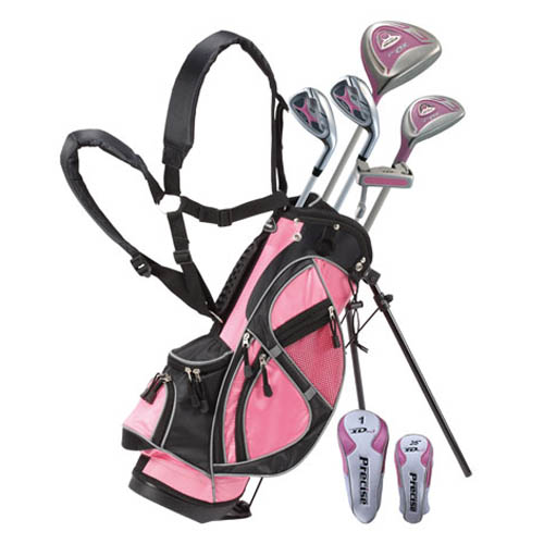 precise golf xdj 8 piece girls junior golf set ages 6 8 at. Black Bedroom Furniture Sets. Home Design Ideas