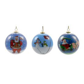 Christmas Golf Ornaments (3 Pack)