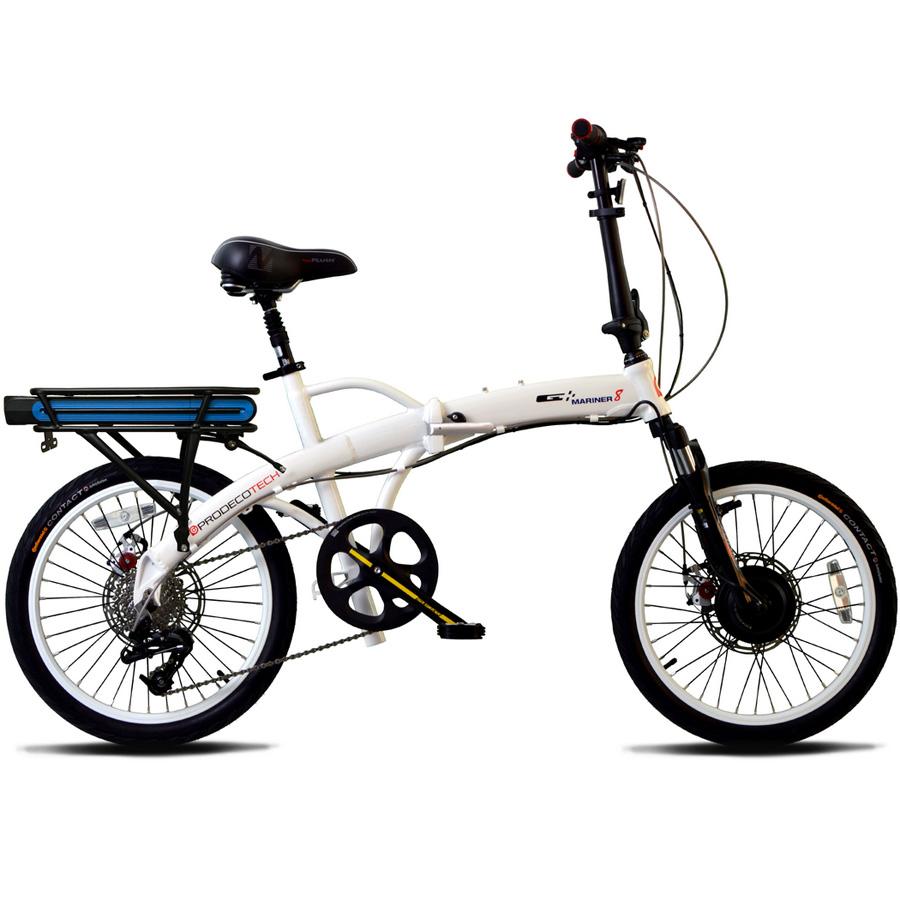 ProdecoTech Mariner 8 V5 Folding Electric Bicycle - White/Black