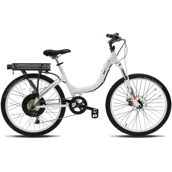 ProdecoTech Stride 500 V5 Electric Bicycle - White/Black