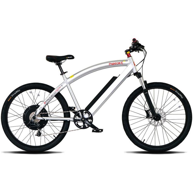 ProdecoTech Phantom X R 400 Electric Bicycle - Brushed Aluminum