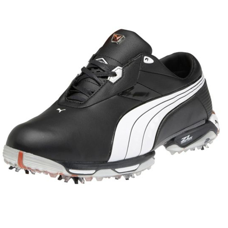 Puma Zero Limits Golf Shoes - Mens Black/White/Cherry Tomato