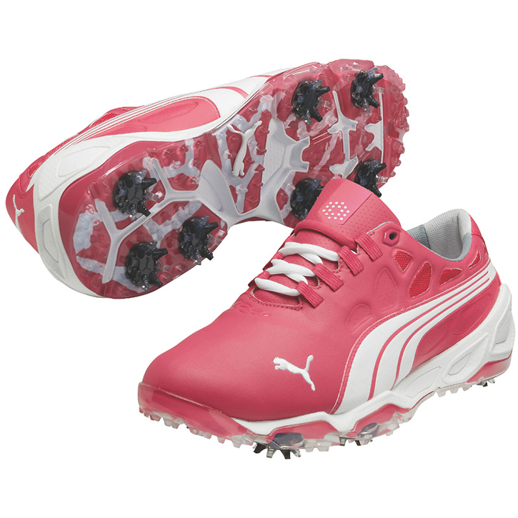 Mens Pink Puma Golf Shoes