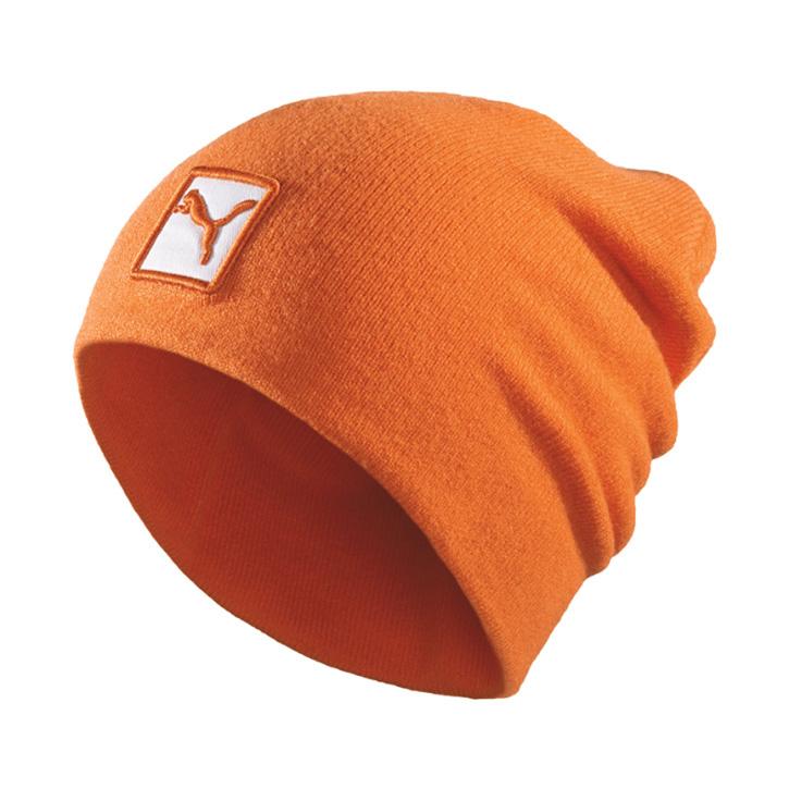 Puma Cat Patch Beanie - Orange