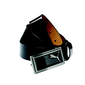 Puma Golf Enamel Belt Skinny - Black