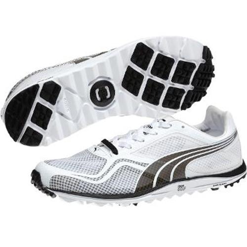 Puma Faas Lite Mesh Golf Shoe Mens Black White At
