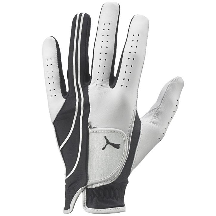 Puma Form Stripe Performance Golf Glove - Black/White