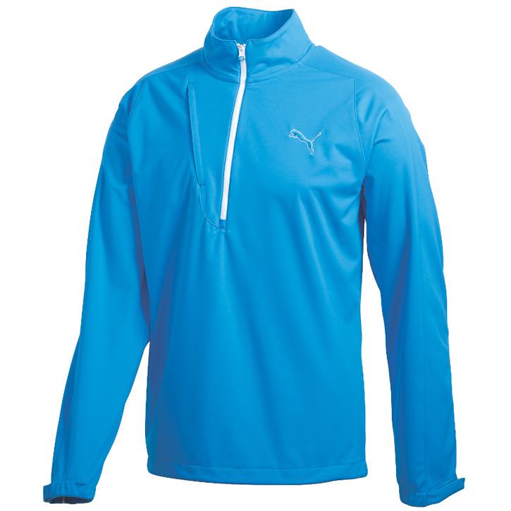 Puma Long Sleeve Knit Wind Jacket - Mens Blue
