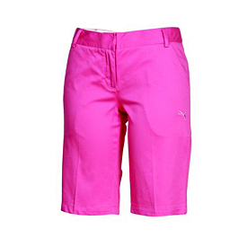 Puma Golf Sateen Bermudas - Womens Shocking Pink