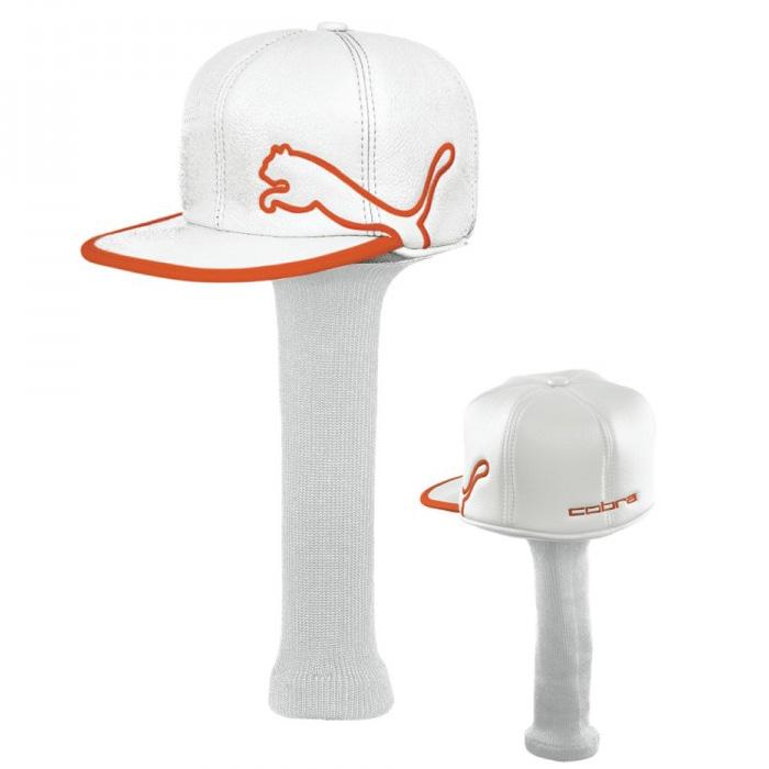 Puma Monoline Cap Headcover - White Orange at InTheHoleGolf.com 105b9f7086f6