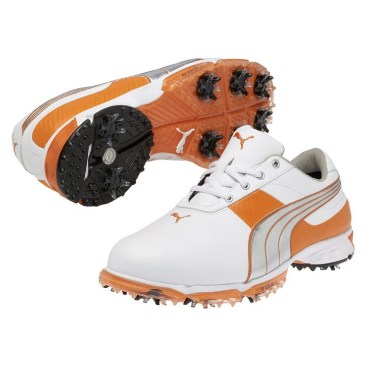 Puma Spark Sport 2 Golf Shoes - Mens White/Silver/Orange