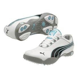 Puma Sunny 2 Golf Shoes - Womens White/black/blue Radiance