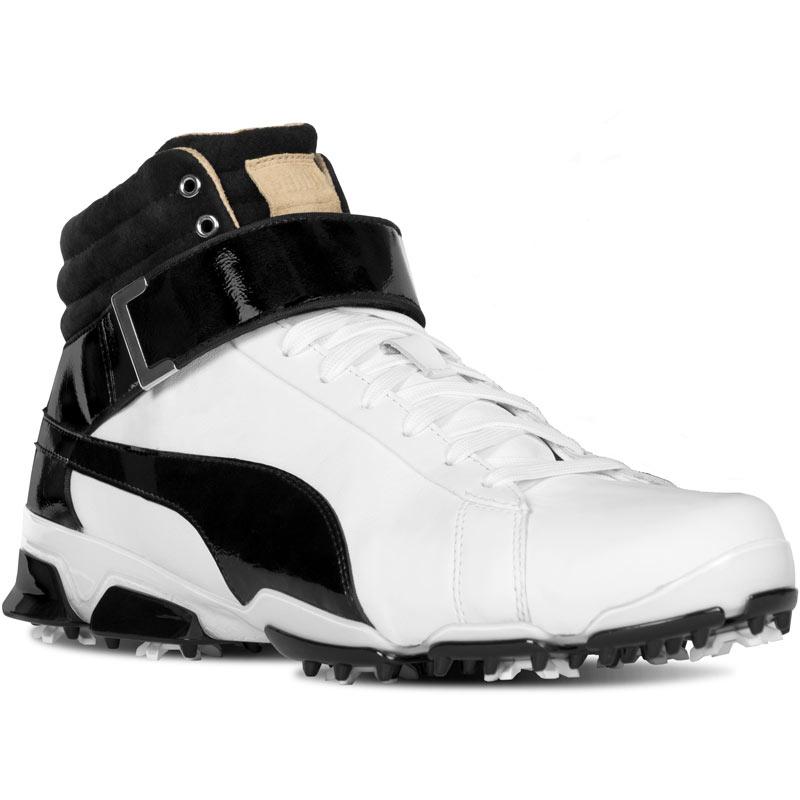 Puma Titan Tour High Top Se Golf Shoes White Black At