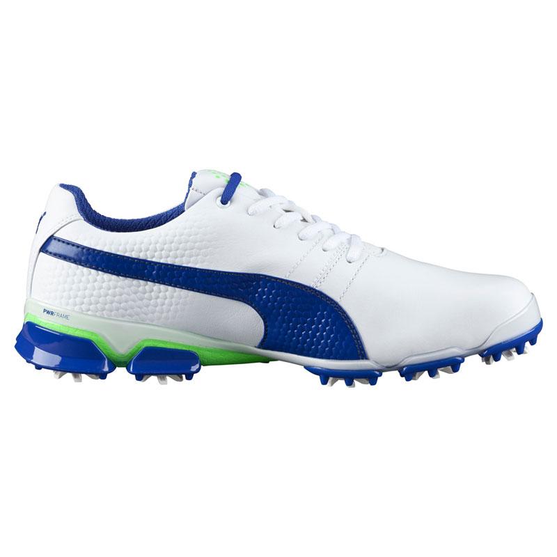 Puma Titan Tour Ignite Golf Shoes - White/Blue/Green Gecko at  InTheHoleGolf.com