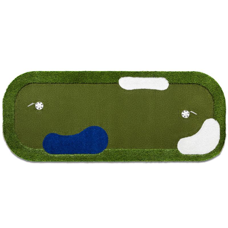 PurePutt Portable Golf Putting Green with Hazards - 10'x4'