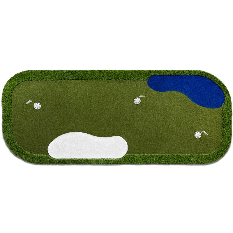 PurePutt Portable Golf Putting Green with Hazards - 12'x5'