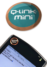 Q-Link Mini Wellness Button - Teal