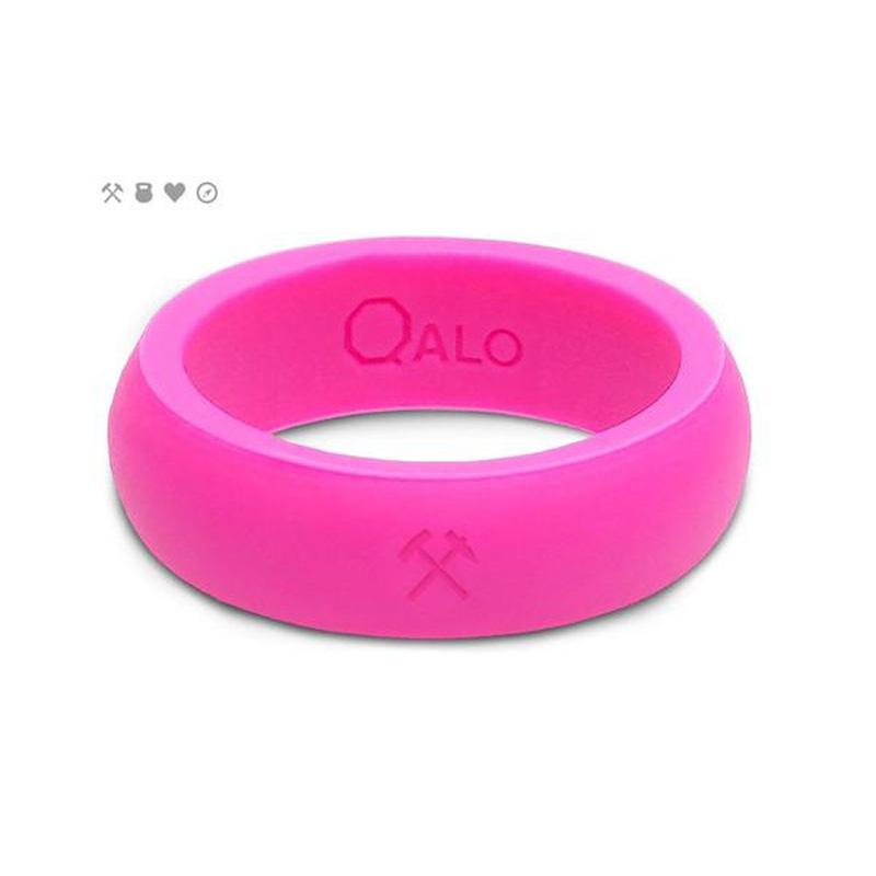 QALO Slicone Wedding Ring - Classic - Womens Pink