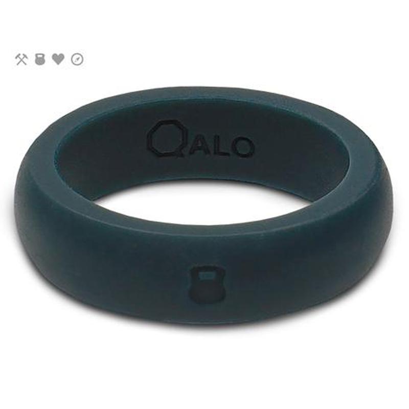 QALO Slicone Wedding Ring - Classic - Womens Slate Grey