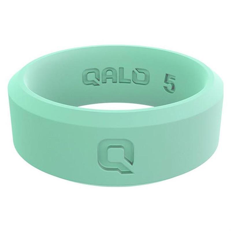 Qalo Silicone Wedding Ring - Foxfire Modern Q2X - Womens Aqua