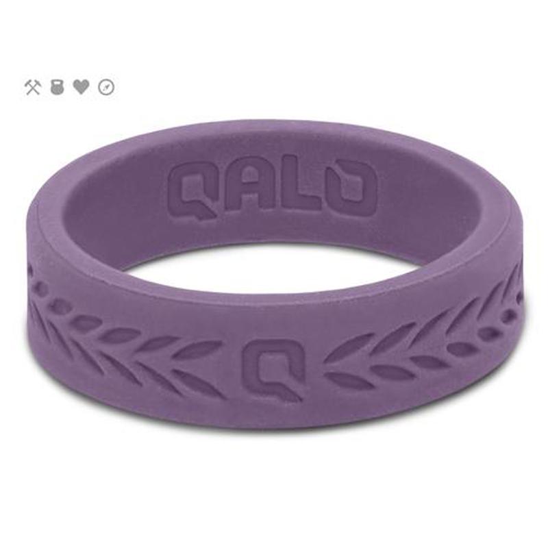 QALO Slicone Wedding Ring - Laurel Q2X - Womens Lilac