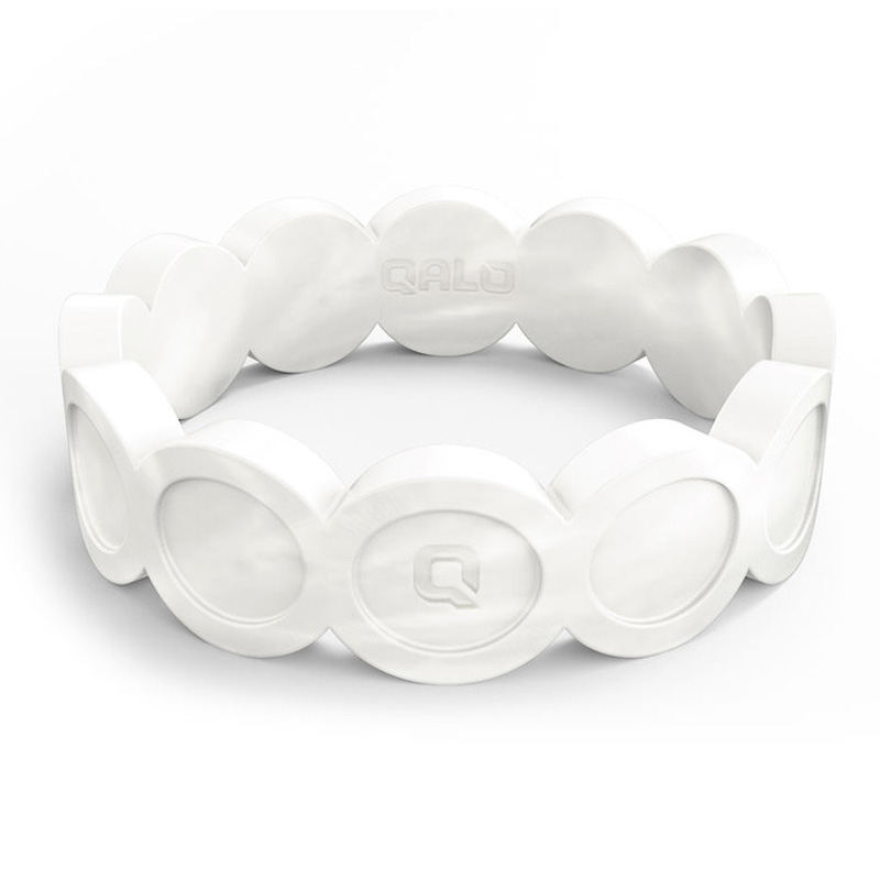 QALO Silicone Wedding Ring - Womens Pearl Scallop
