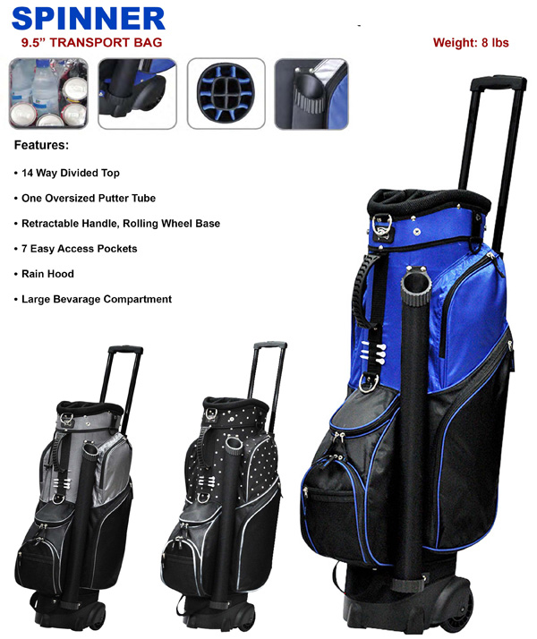 2017 Rj Sports Spinner Cart Bag With Wheels