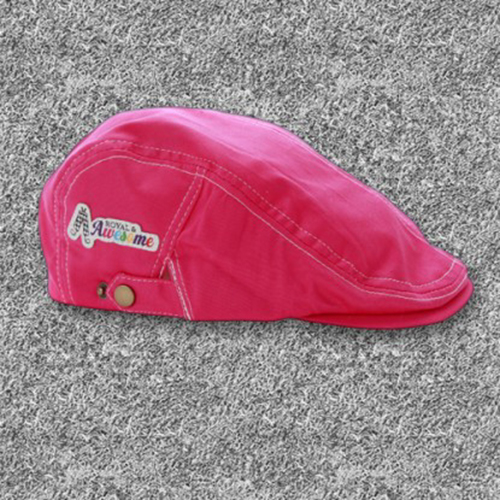 Royal & Awesome Flat Caps - Pink Ticket