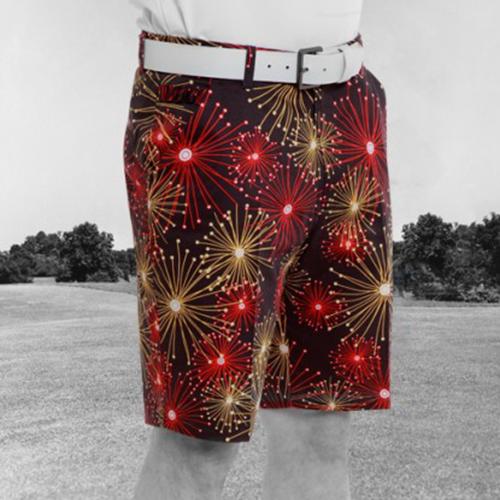 Royal & Awesome Mens Golf Shorts - Ka Boom