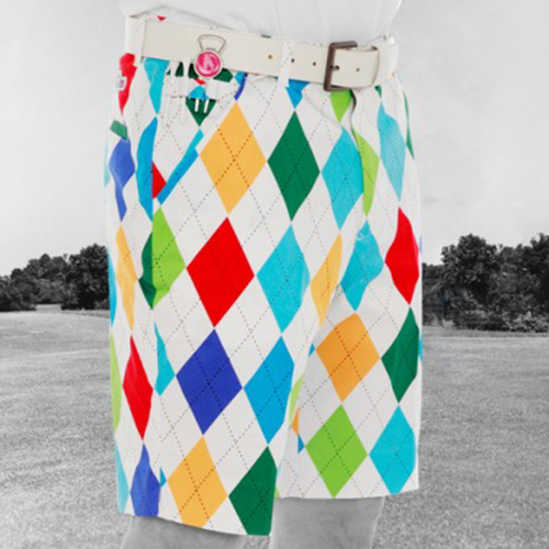 Royal & Awesome Mens Golf Shorts - King of Diamonds Image