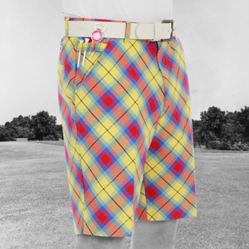 Royal & Awesome Mens Golf Shorts - Plaid Awesome Tartan