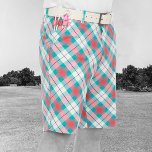 Royal & Awesome Mens Golf Shorts - Well Plaid Tartan