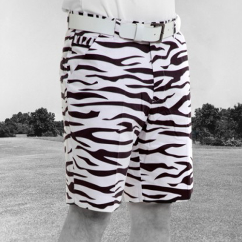 Image of Royal & Awesome Mens Golf Shorts - Zebra to Ze-Bar