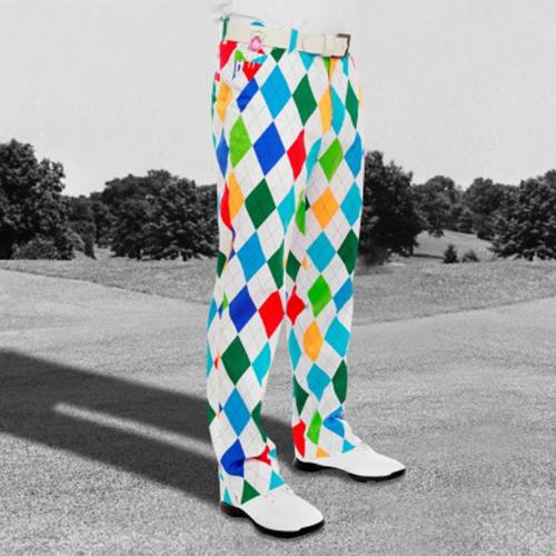 Royal & Awesome Mens Golf Pants - King of Diamonds Image