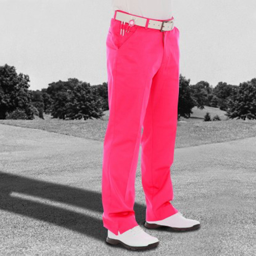 Royal & Awesome Mens Golf Pants - Pink Ticket