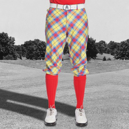 Royal & Awesome Mens Golf Knickers - Plaid Awesome Tartan Image