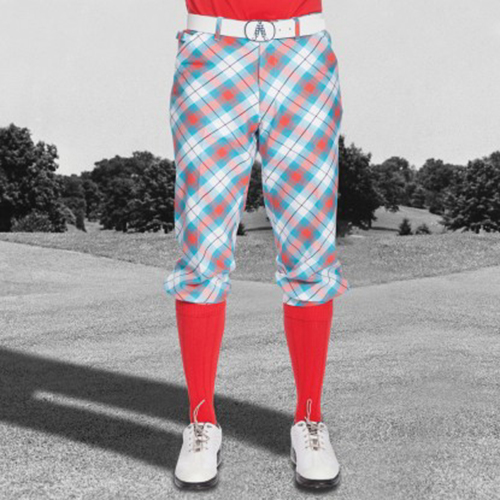 Royal & Awesome Mens Golf Knickers - Well Plaid Tartan