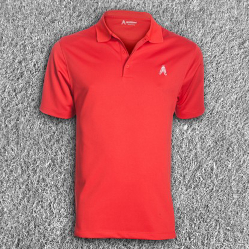 Royal & Awesome Mens Polo Shirt - Red Image