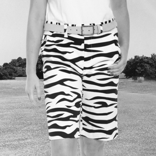 Image of Royal & Awesome Womens Shorts - Zebra to Ze-Bar