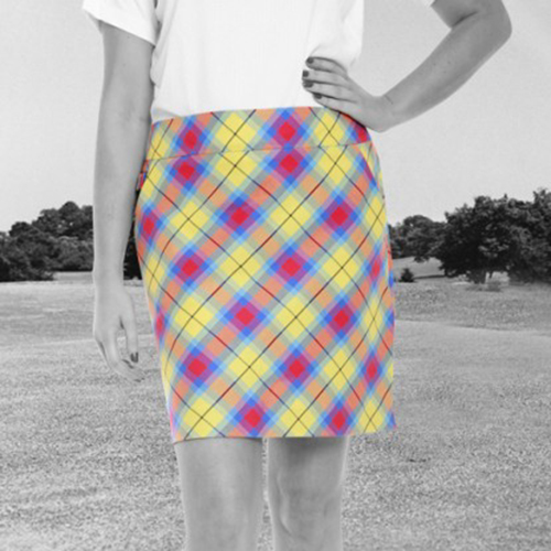 Royal & Awesome Womens Skorts - Plaid Awesome Tartan