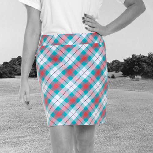 Royal & Awesome Womens Skorts - Well Plaid Tartan