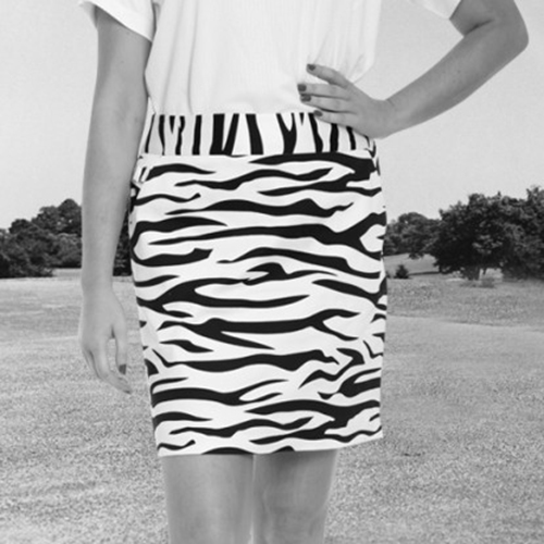 Royal & Awesome Womens Skorts - Zebra to Ze-Bar