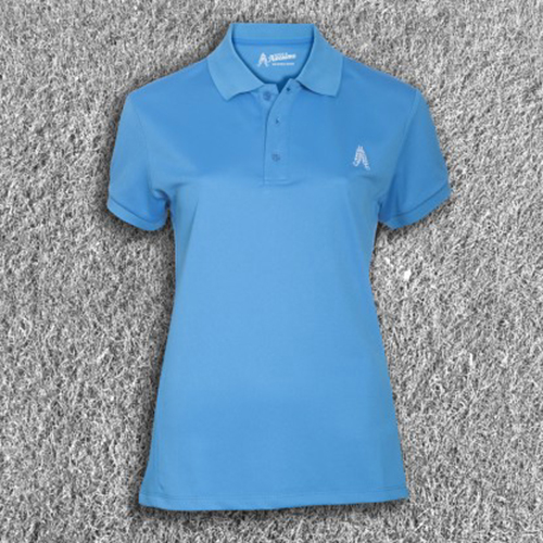 Royal & Awesome Womens Polo Shirt - Blue