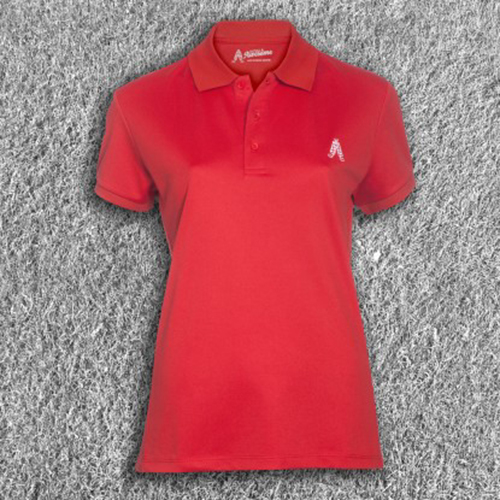 Royal & Awesome Womens Polo Shirt - Red