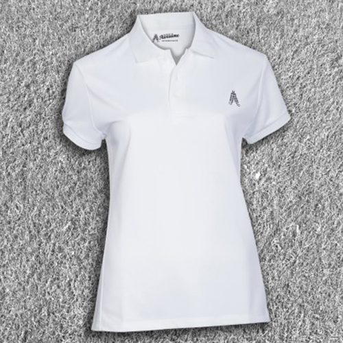 Royal & Awesome Womens Polo Shirt - White