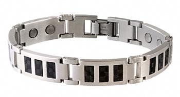 Sabona Black Carbon Fiber Stainless Magnetic
